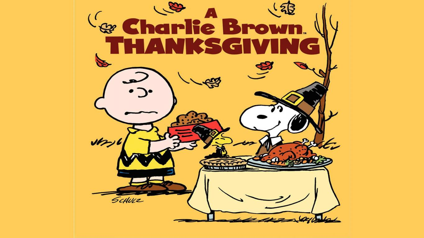1366x768 Charlie Brown Thanksgiving Wallpapers