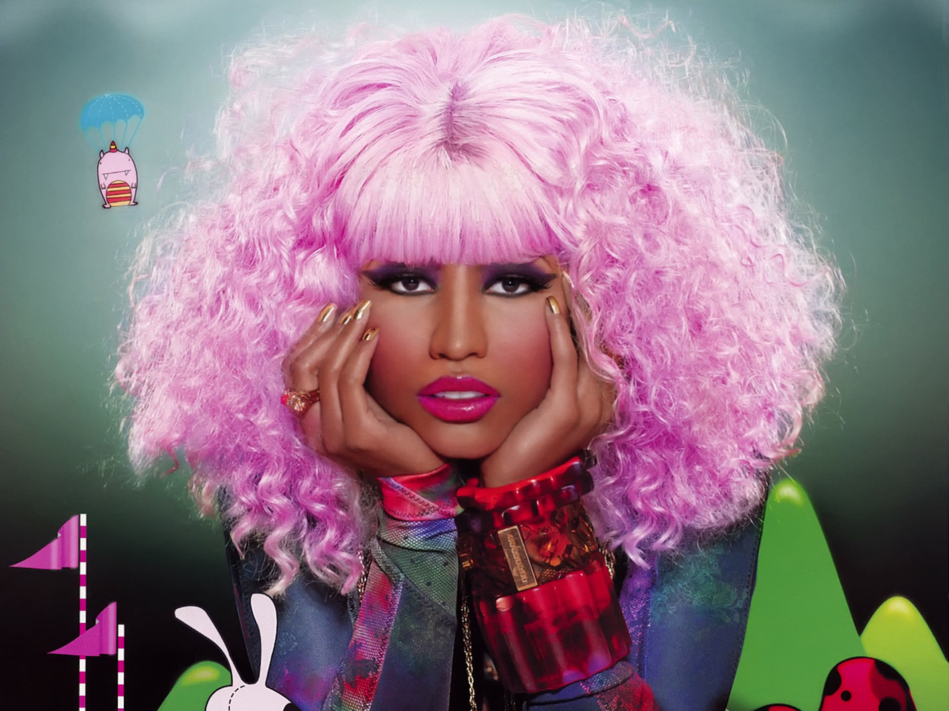 1920x1440 Nicki Minaj Beautiful Eyes Wallpaper
