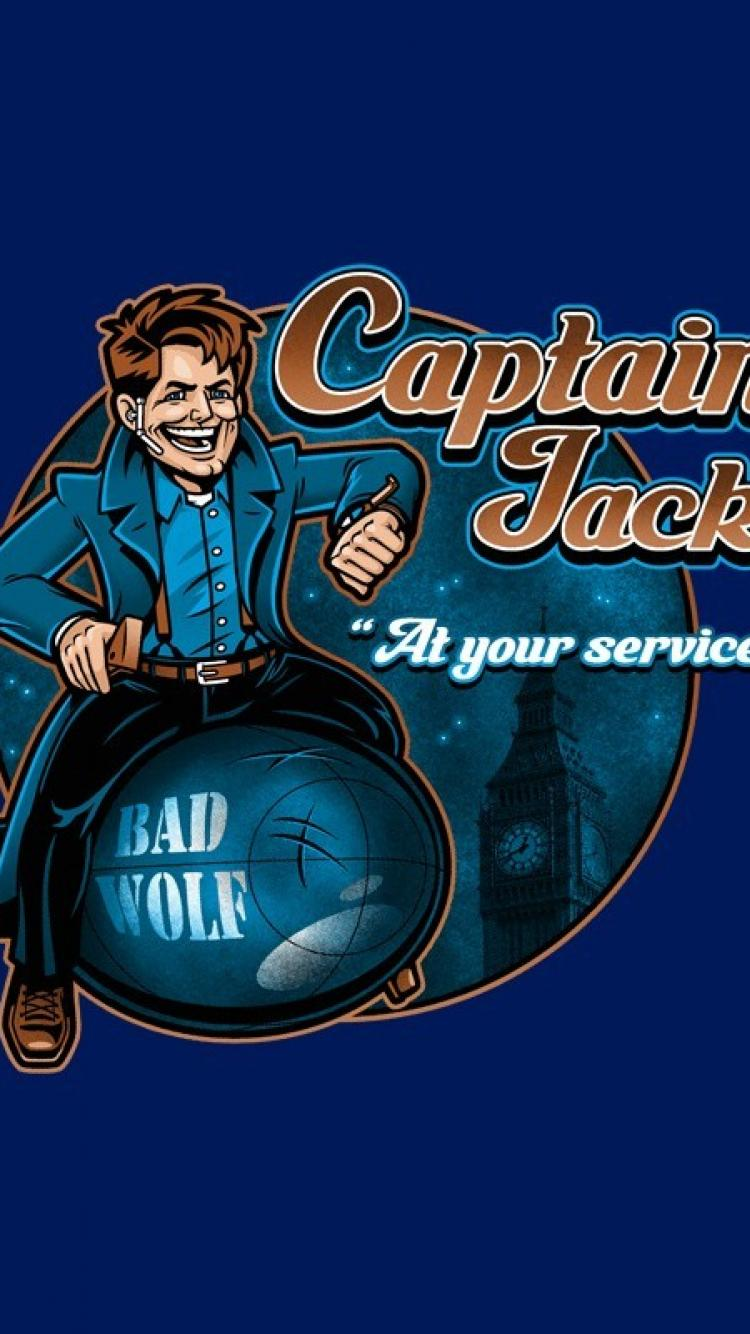 750x1334 Torchwood captain doctor who jack harkness bad wolf wallpaper | (79576)