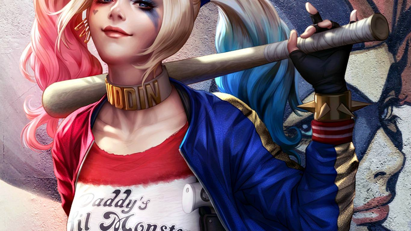 1366x768 21+ Harley Quinn Wallpapers, Backgrounds, Images | FreeCreatives