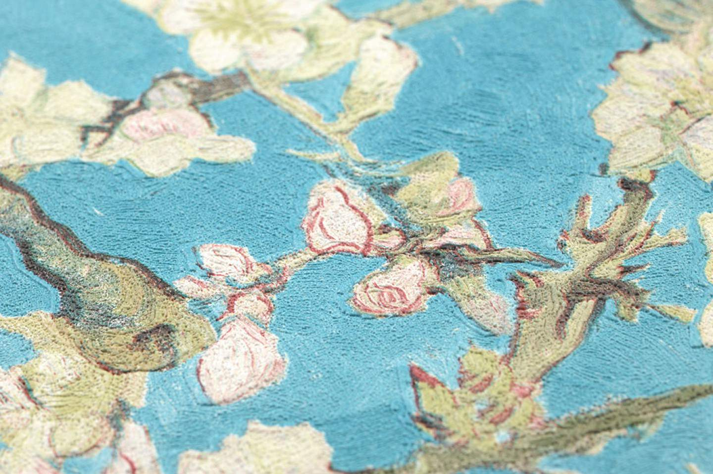 1440x958 Wallpaper VanGogh Blossom (Turquoise, Pale green, Brown red, Green ...