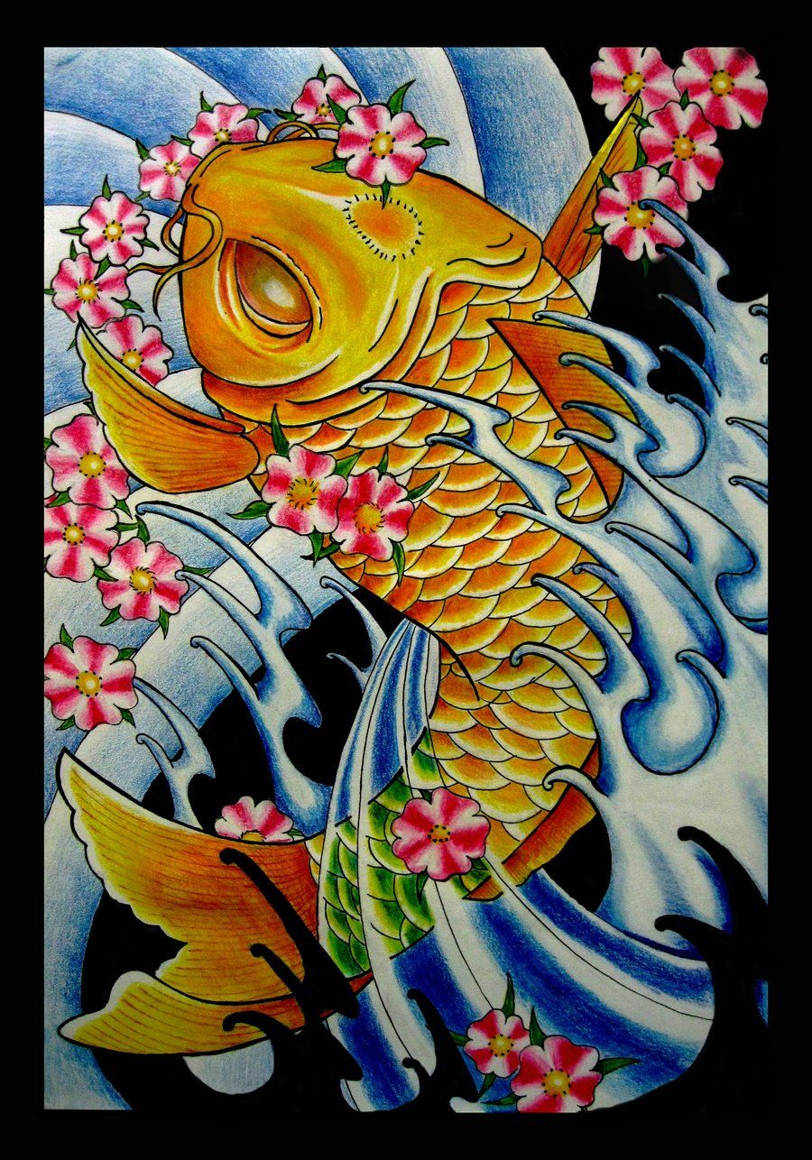 900x1286 Japanese Koi Fish by thirteen7s on DeviantArt