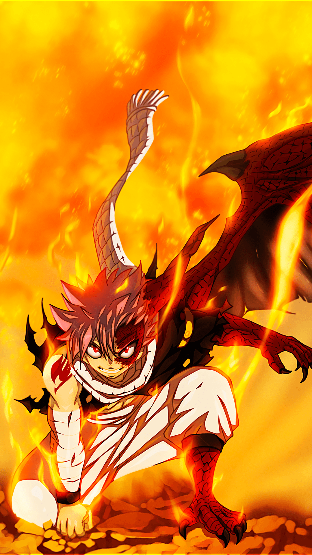 1080x1920 Anime Fairy Tail Natsu Dragneel Fire Mobile Wallpaper | ANIME is ...