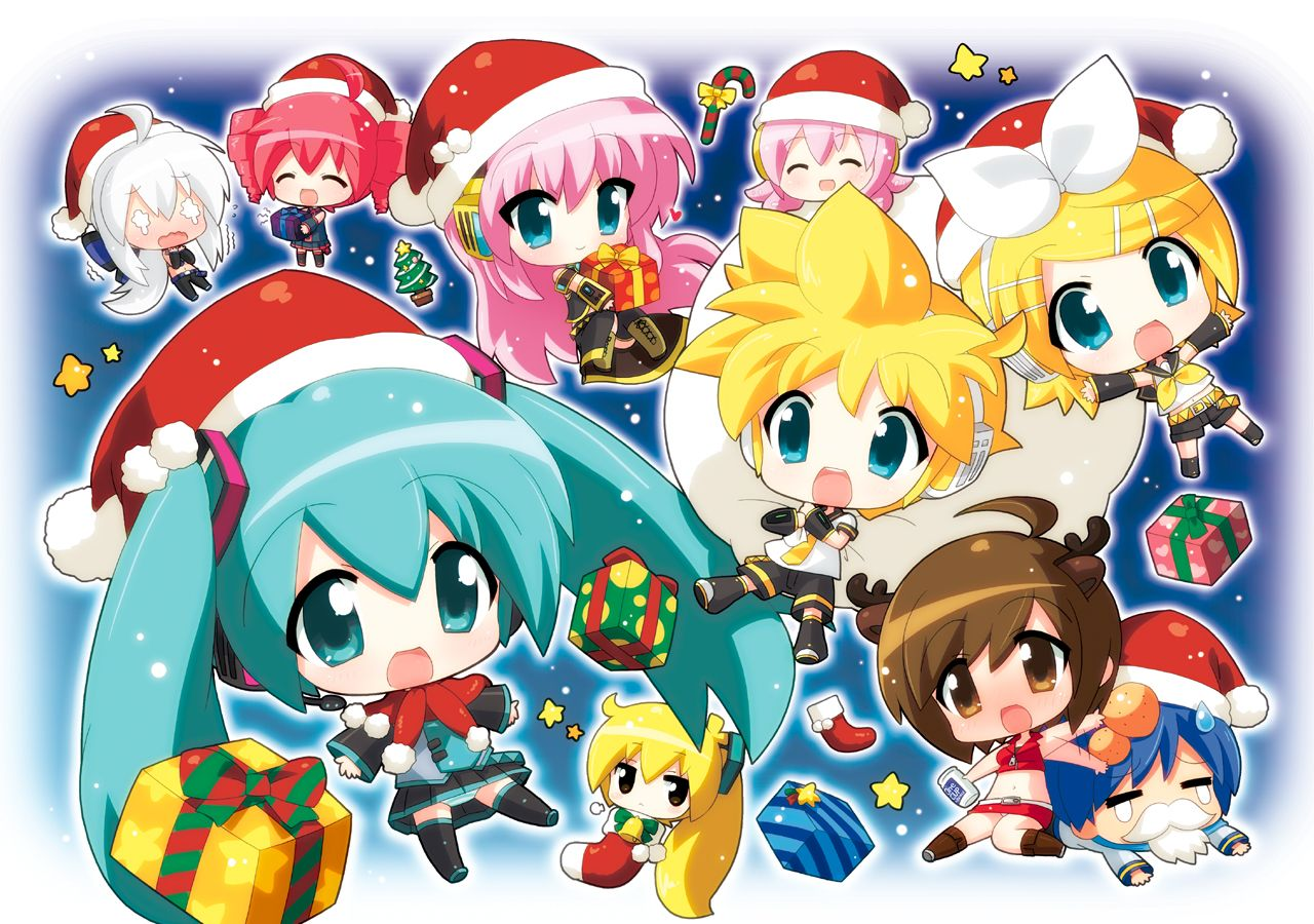 1280x900 Vocaloid Chibis images vocaloid christmas HD wallpaper and ...