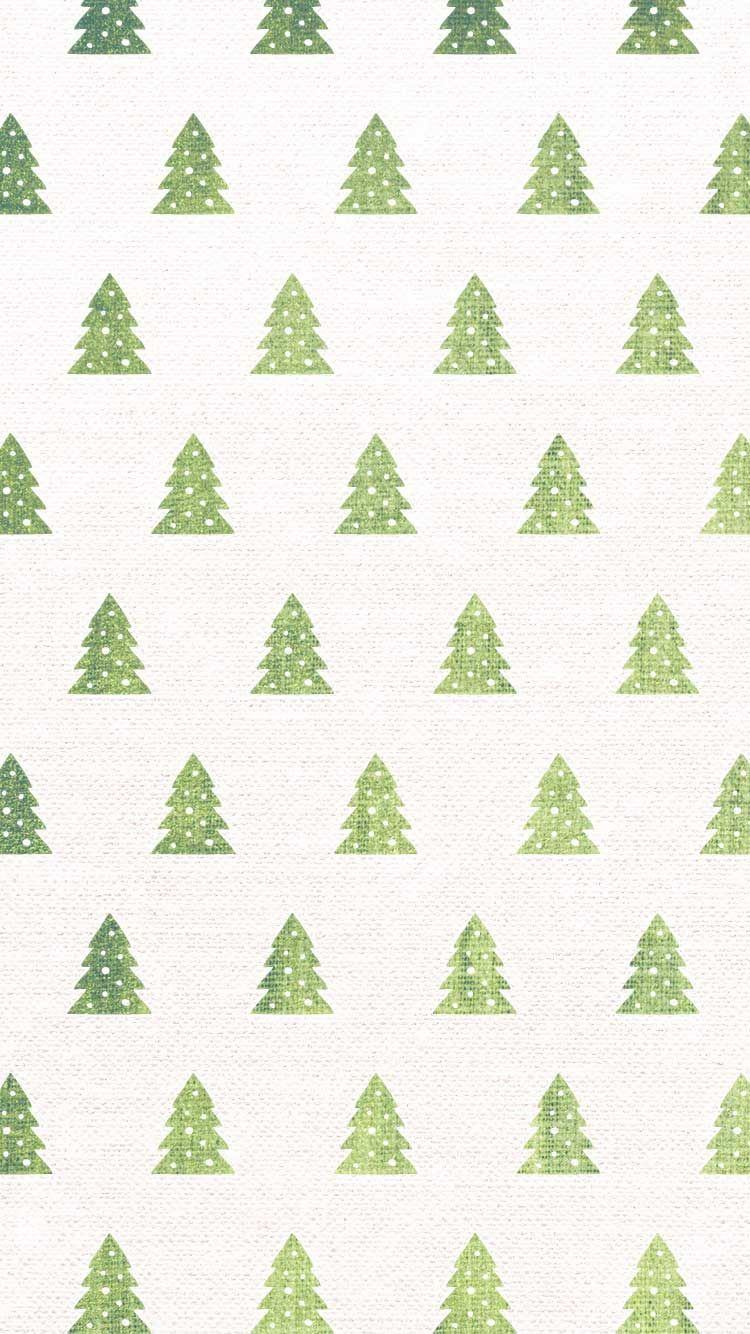 750x1334 Christmas tree watercolor pattern   free iPhone holiday wallpapers ...