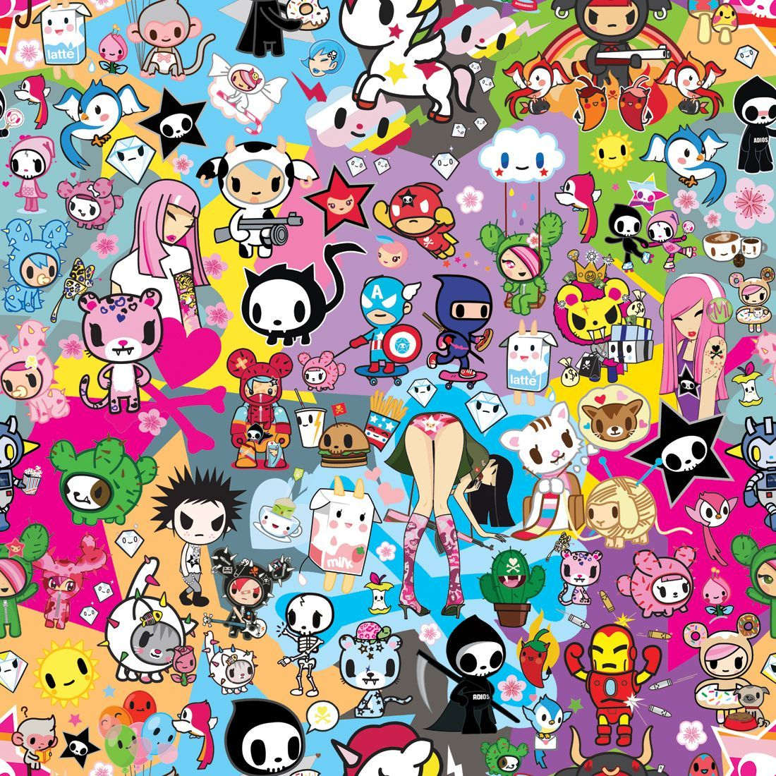 1100x1100 Featured Artist: Simone Legno of Tokidoki | Kawaii wallpaper, Kawaii ...