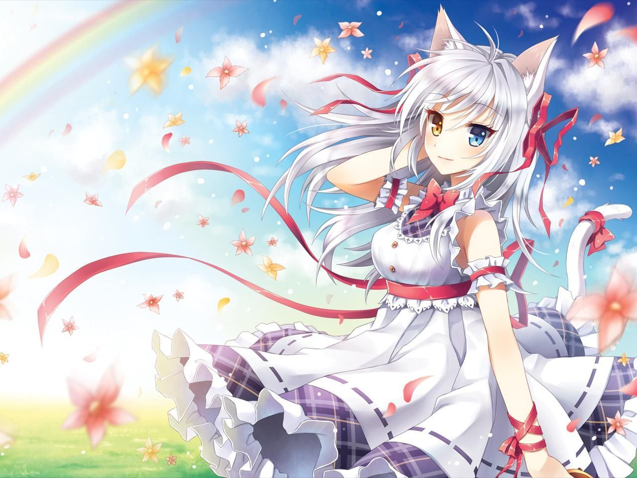 1280x960 Cat Girl Wallpapers | New HD Wallpapers | Anime | Anime cat, Anime ...