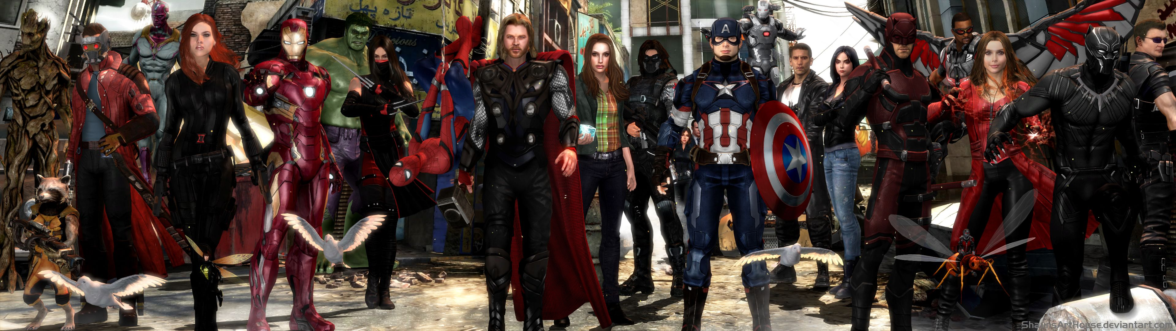 3840x1080 Avengers MCU, HD Superheroes, 4k Wallpapers, Images, Backgrounds ...