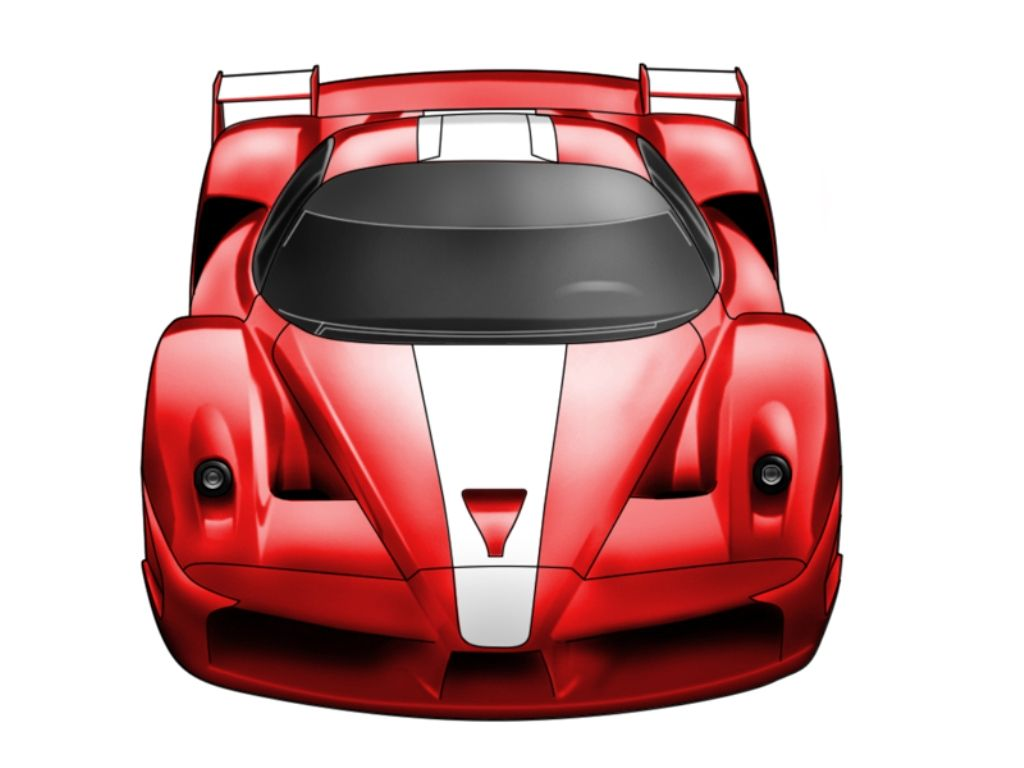 1024x768 ferrari fxx by smev «Vector cars «Digital Wallpapers «Anime wallpapers