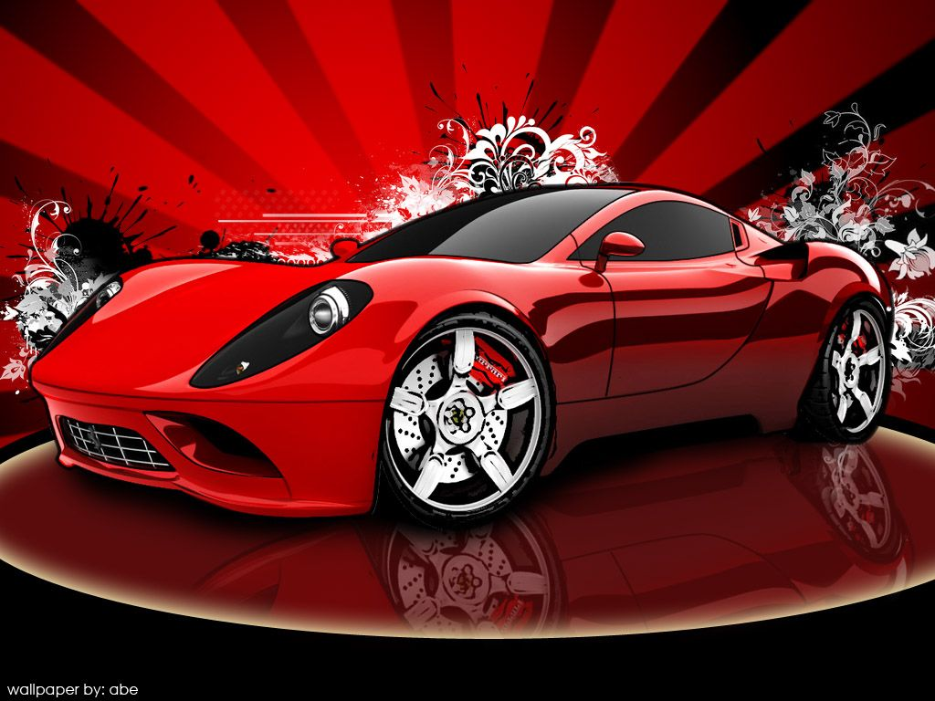1024x768 Vector Wallpaper: Ferari Dino by polarbear0743 on DeviantArt