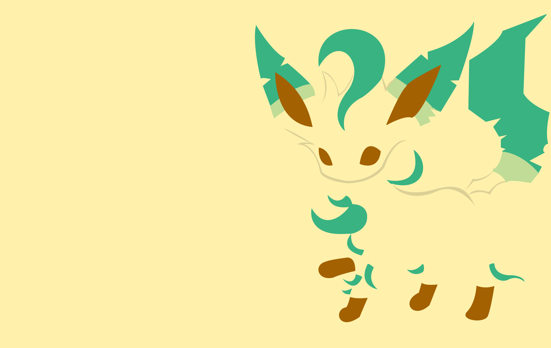 1900x1200 Leafeon Wallpapers