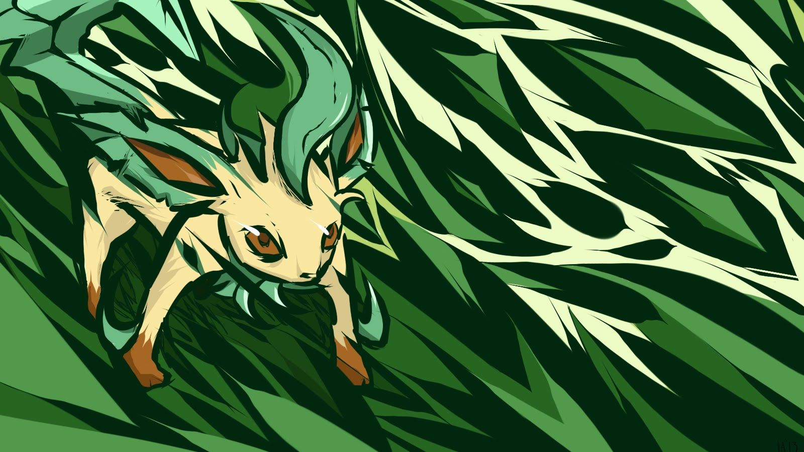 1600x900 Leafeon: The Green Monster - YouTube