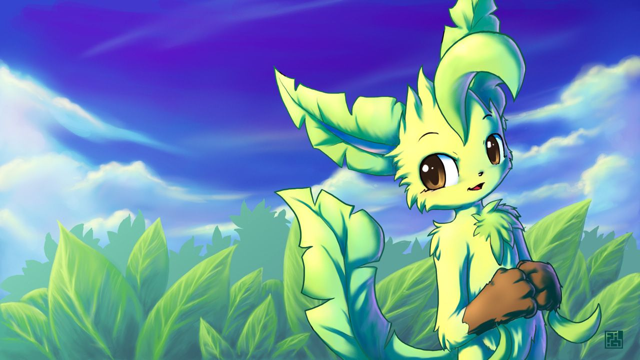 1280x720 Leafeon - Pokémon - Wallpaper #1508039 - Zerochan Anime Image Board