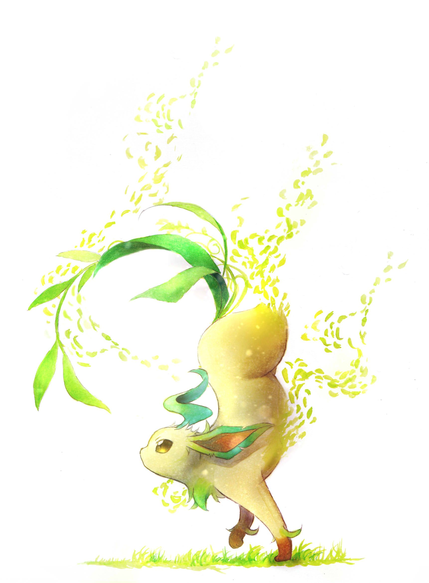 1722x2339 Leafeon - Pokémon - Mobile Wallpaper #2120321 - Zerochan Anime Image ...