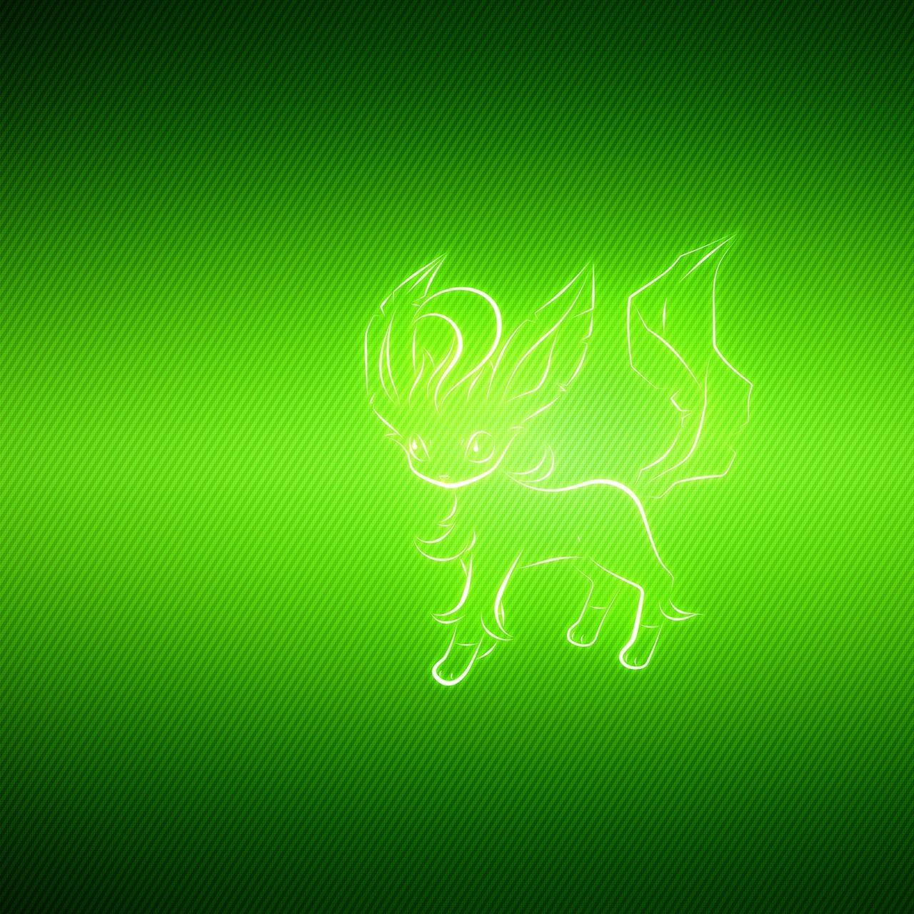 1280x1280 Download wallpaper 1280x1280 animal, pokemon, green, leafeon ipad ...