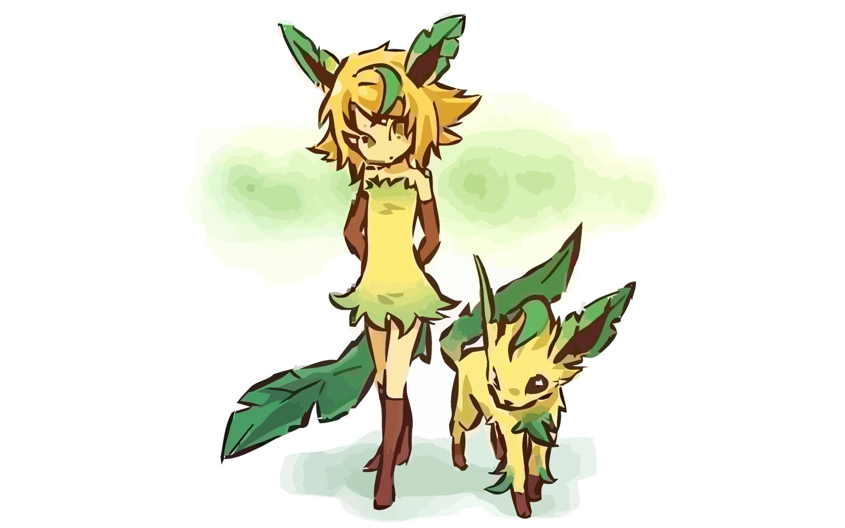 1680x1050 Leafeon - Pokémon - Wallpaper #140945 - Zerochan Anime Image Board