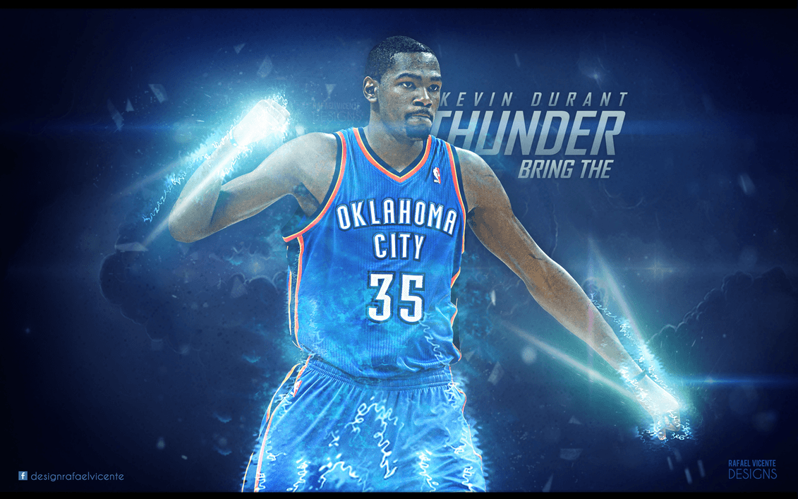 1131x707 BRING THE THUNDER I Kevin Durant wallpaper by RafaelVicenteDesigns ...