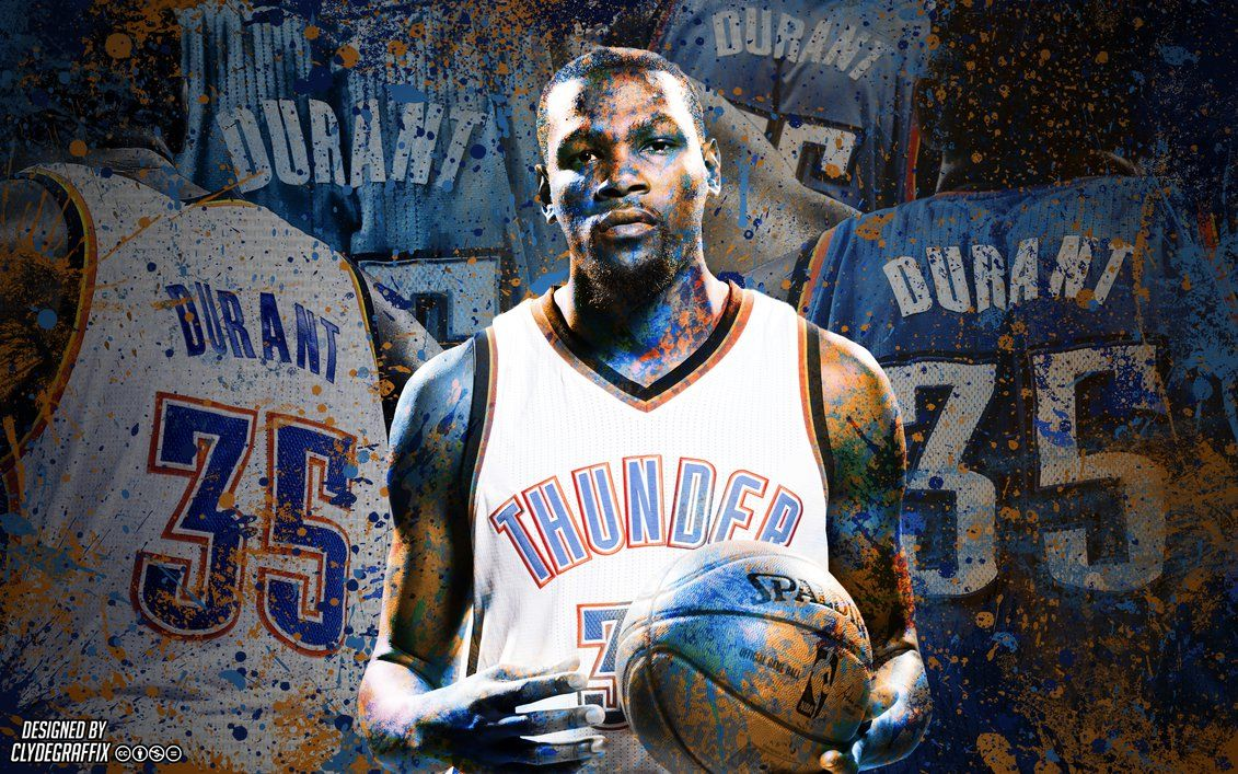 1131x707 Kevin Durant | Painted | Wallpaper by ClydeGraffix on DeviantArt