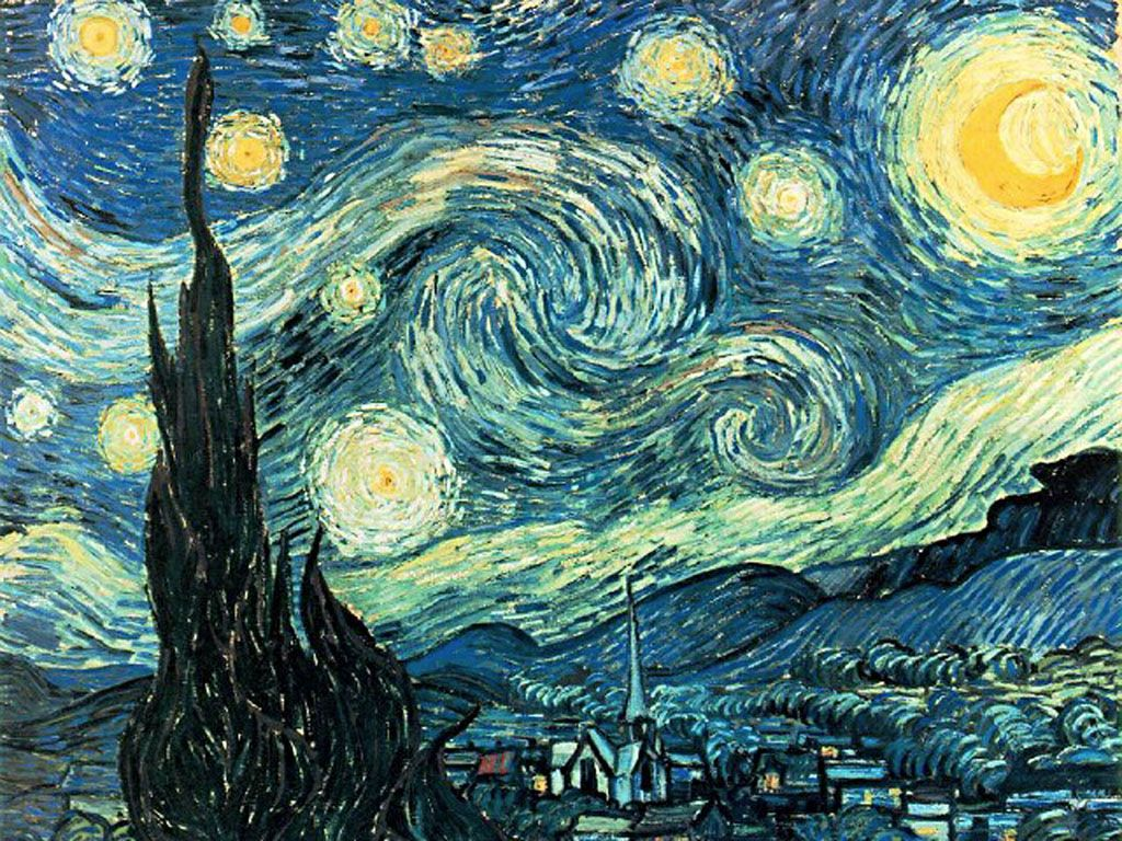 1024x768 Van Gogh's famous and beautiful