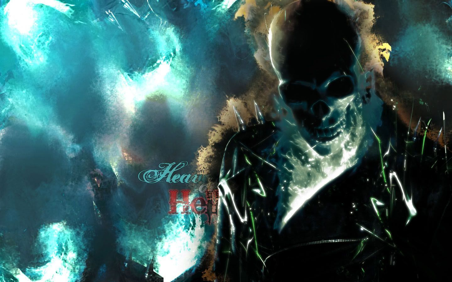 1440x900 Blue Ghost Rider Wallpaper - WallpaperSafari | Ghost rider ...