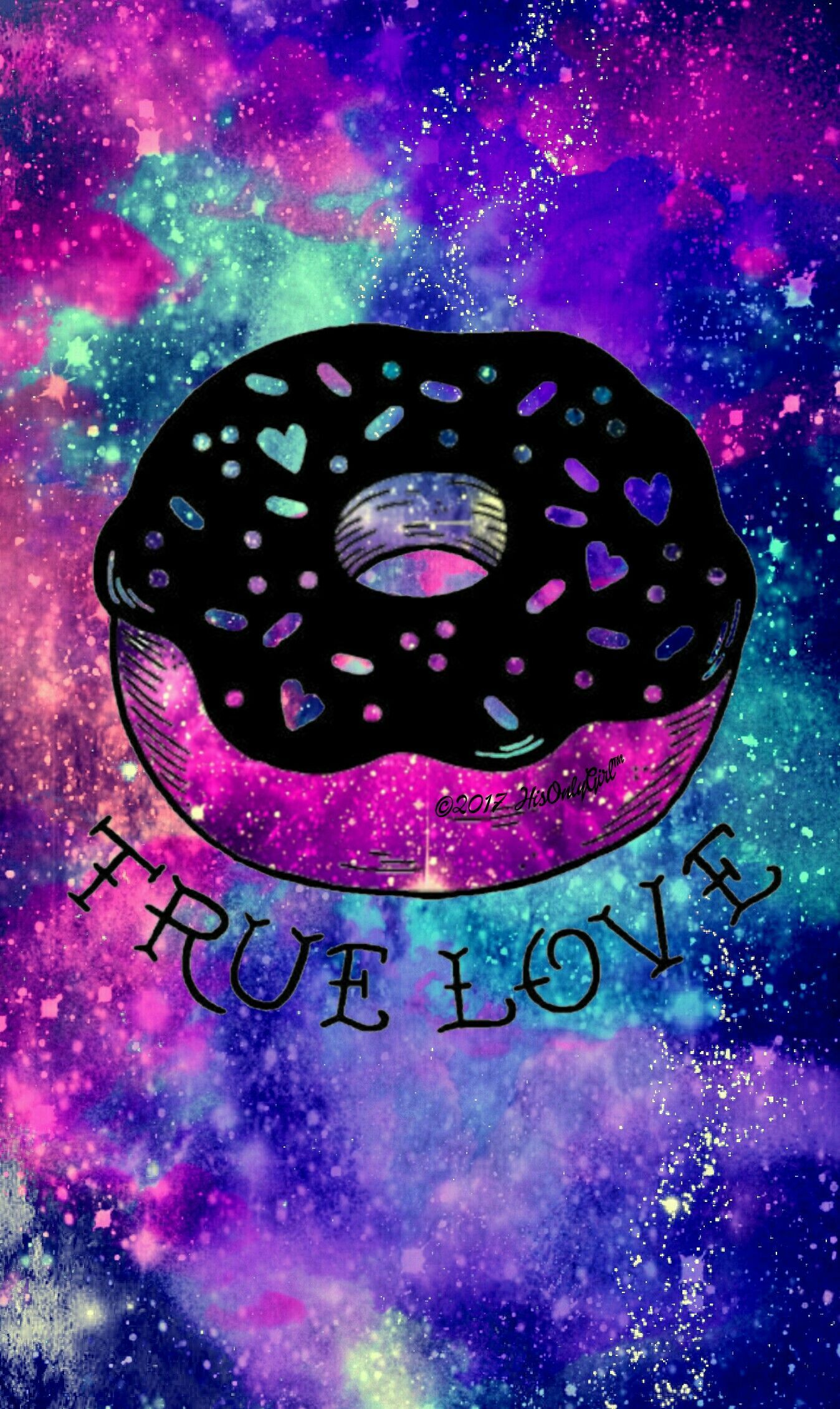 1348x2259 True love donut galaxy wallpaper I created for the app ...