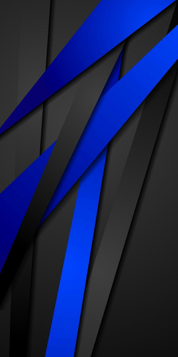 720x1440 Black and Blue Abstract Wallpaper | *Abstract and Geometric ...