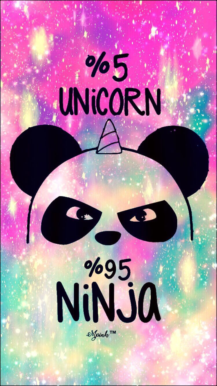 750x1334 5% Unicorn 95% Ninja Galaxy iPhone/Android Wallpaper I Created For ...