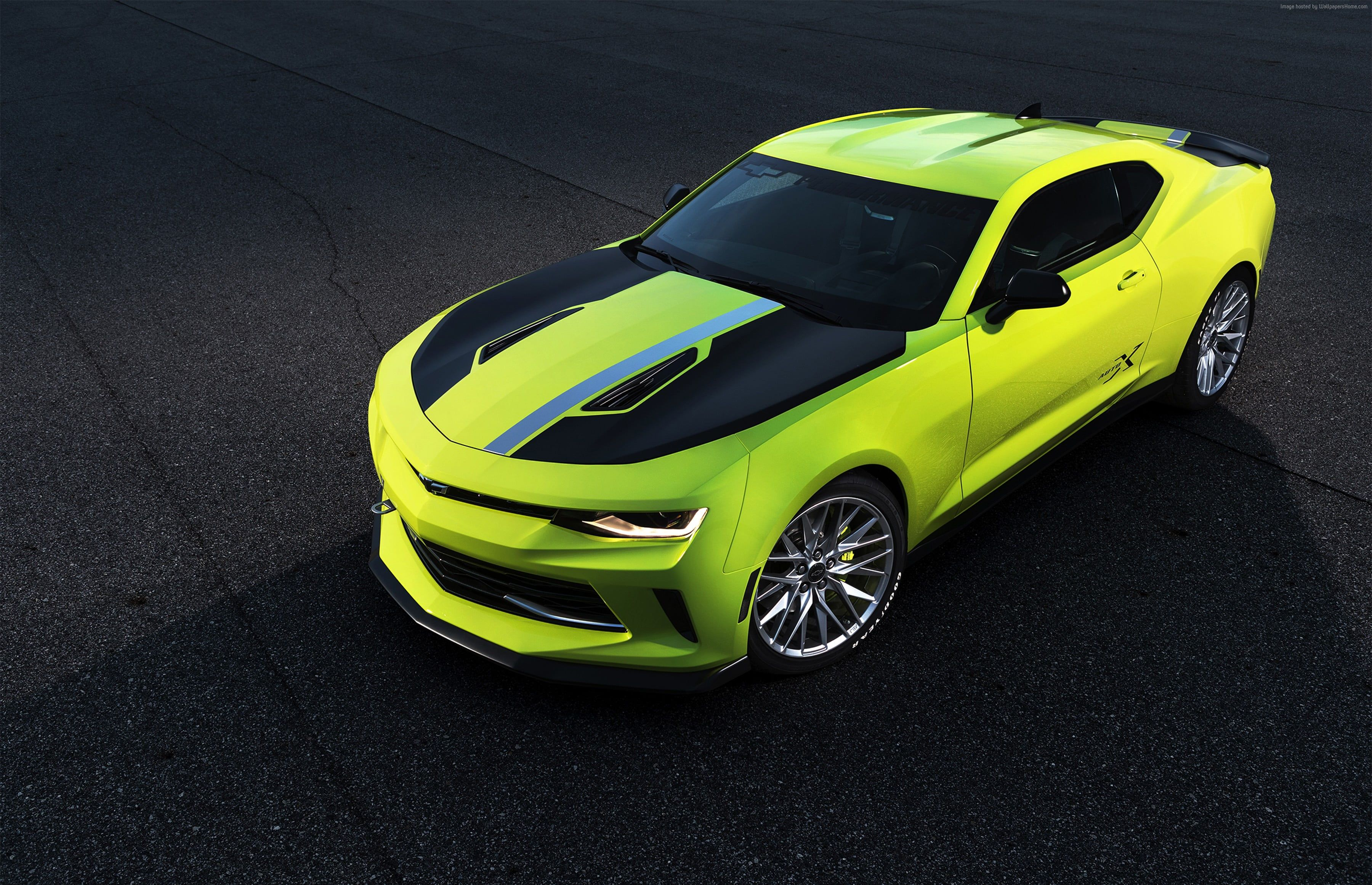 3600x2323 Photography neon-green and black Chevrolet Camaro HD ...
