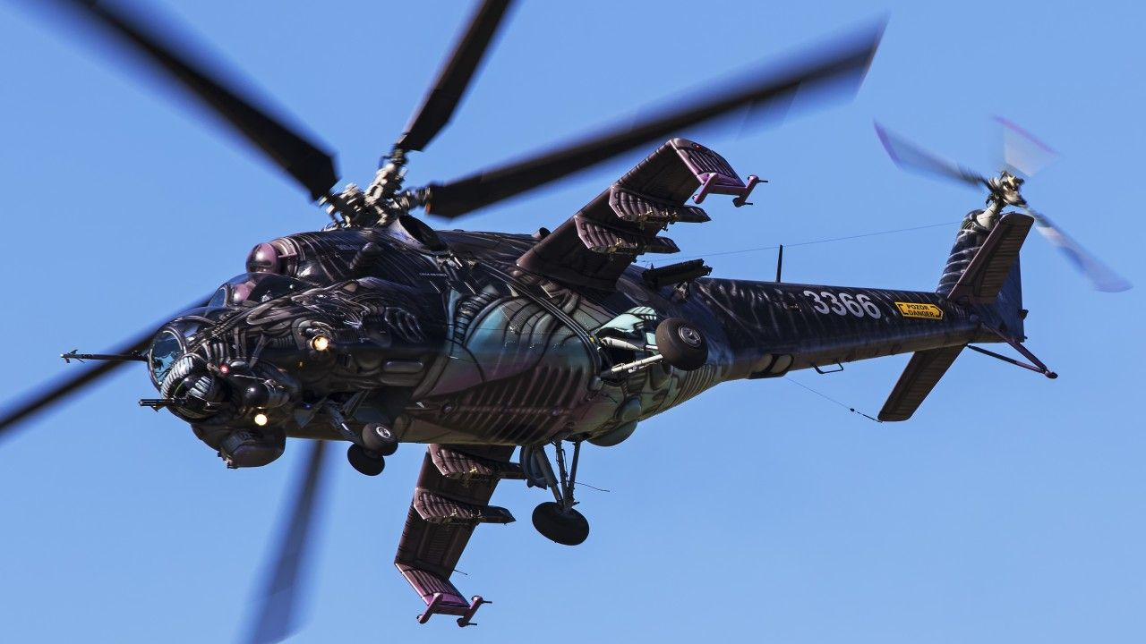 1280x720 Wallpaper Attack helicopter, Mil Mi-24, Helicopter gunship, 4K ...