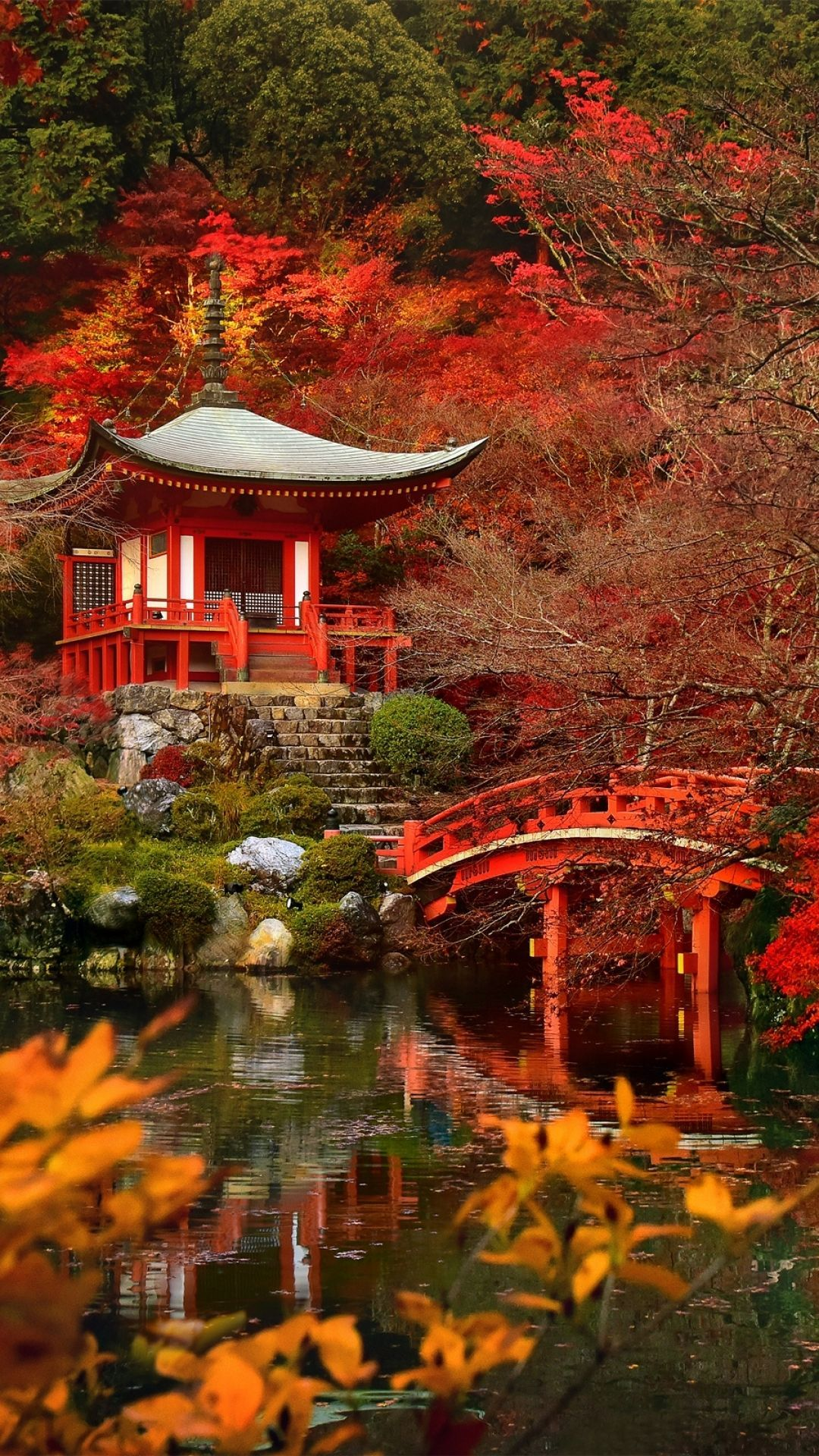 1080x1920 Autumn In Japan - Tap to see more beautiful nature wallpapers ...