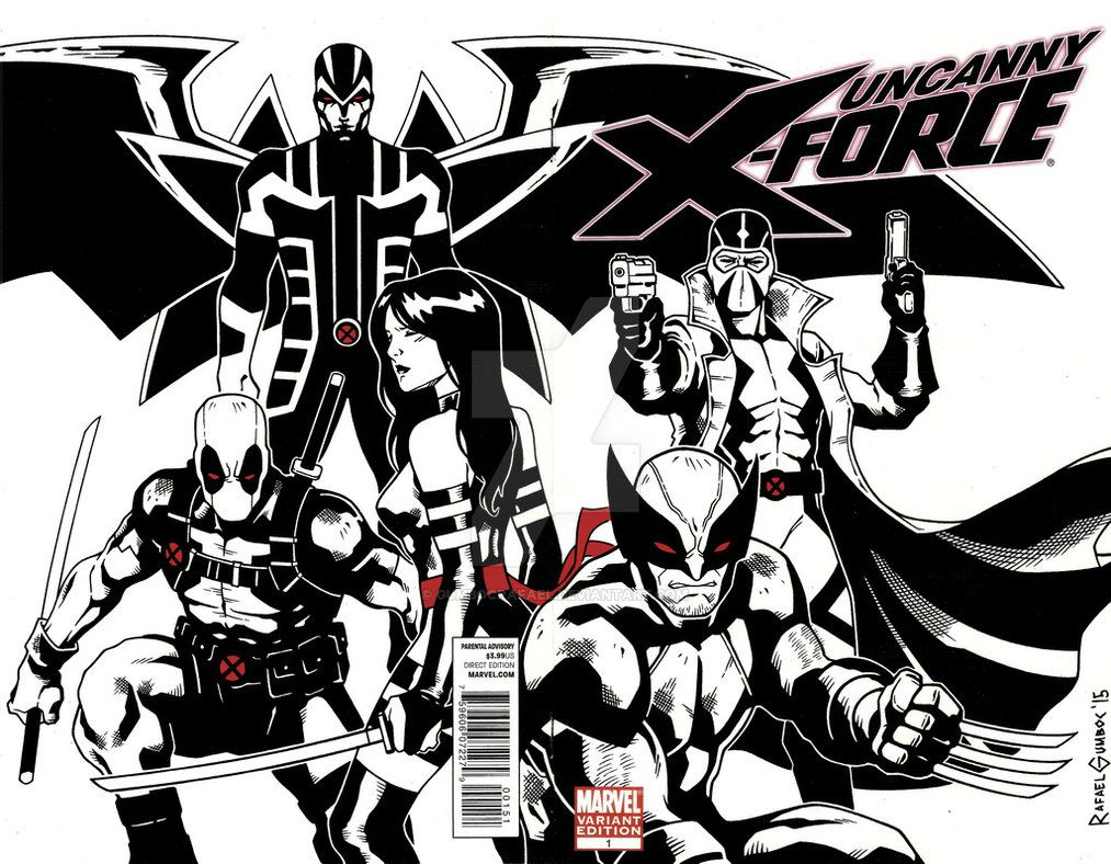 1013x788 Uncanny X-Force Blank Cover Sketch by GumbocRafael on DeviantArt