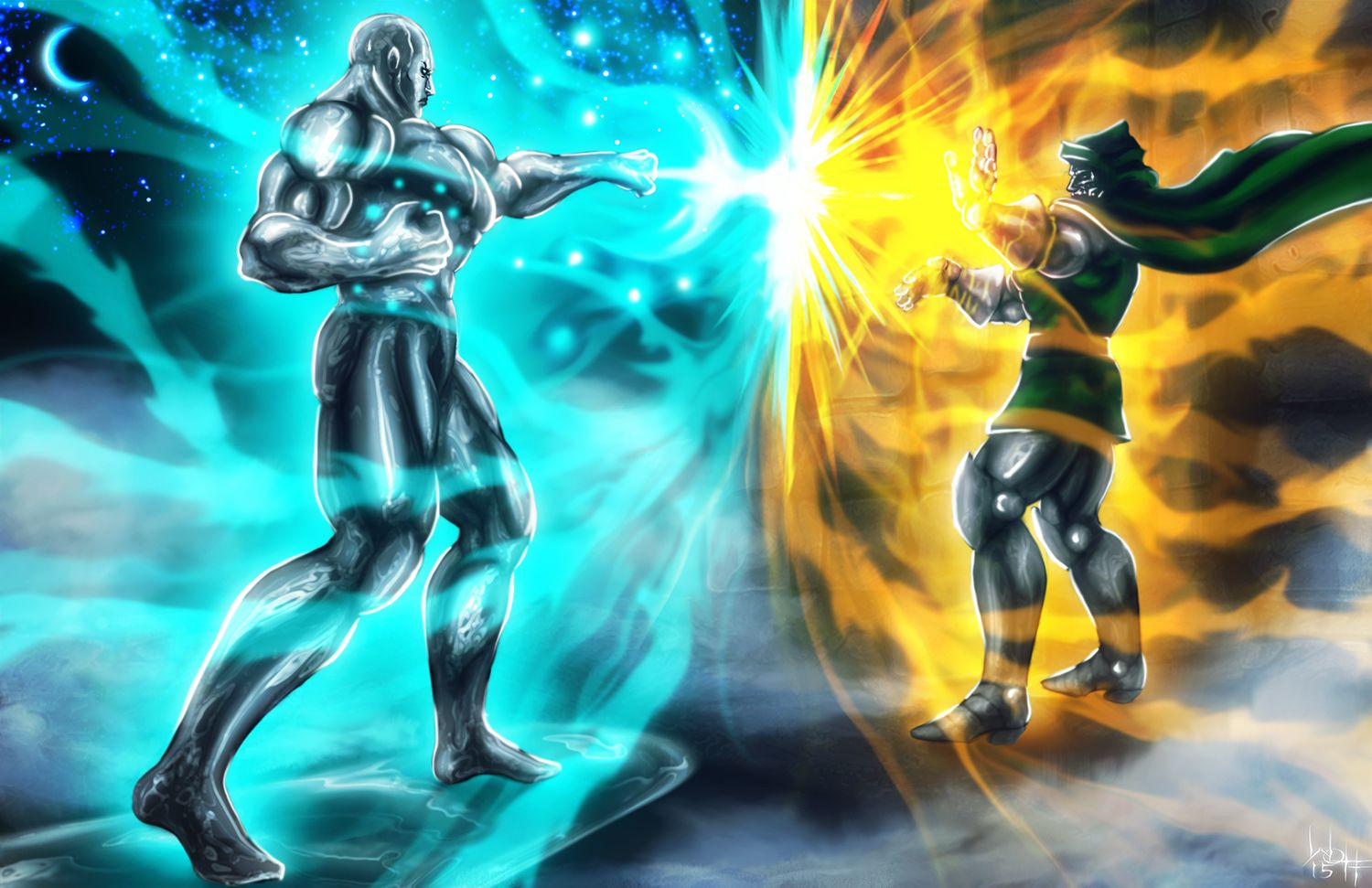 1500x971 Silver Surfer vs Doctor Doom by SirWolfgang on DeviantArt
