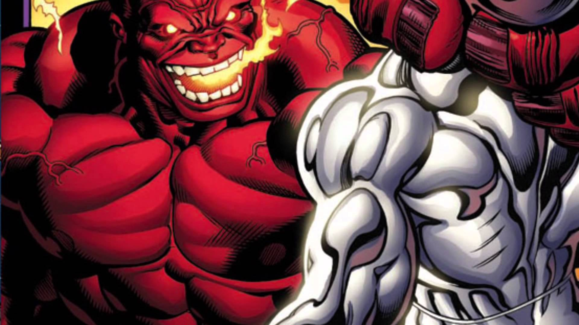 1920x1080 Red Hulk vs Silver Surfer - YouTube