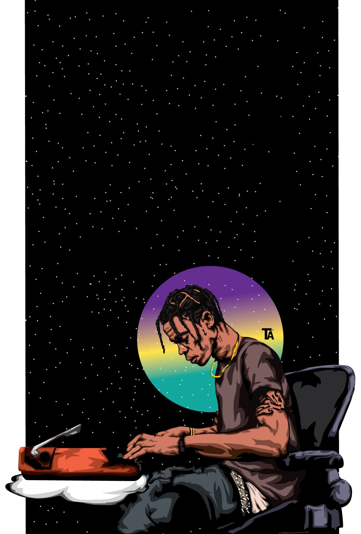 1154x1709 Pin by Adrienne on La Flame | Pinterest | Art, Dope art and Travis ...