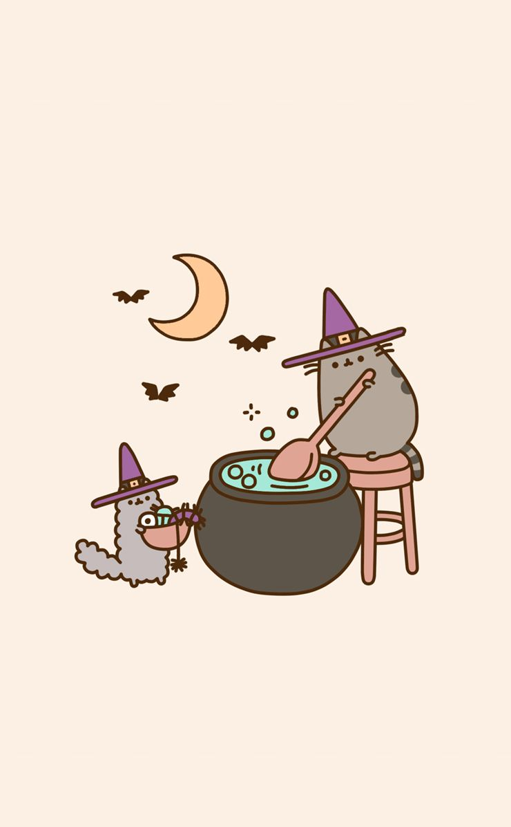 740x1196 Pusheen Witch on weheartit | ALLH∆LL0WS£V£✪ | Halloween ...