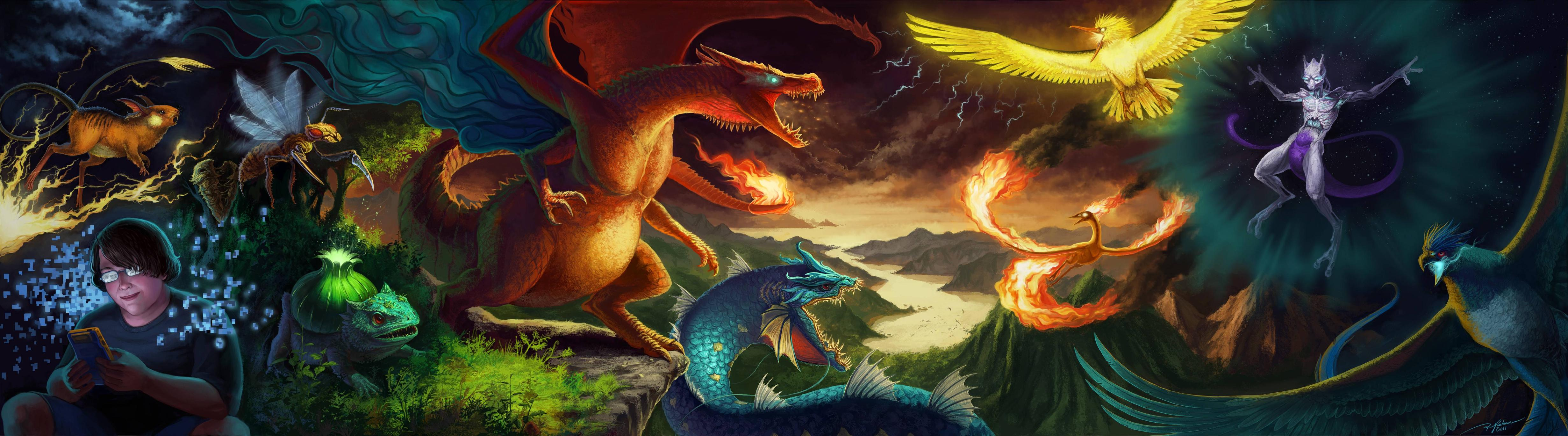 4923x1368 Epic Pokemon Art - ID: 52884 - Art Abyss