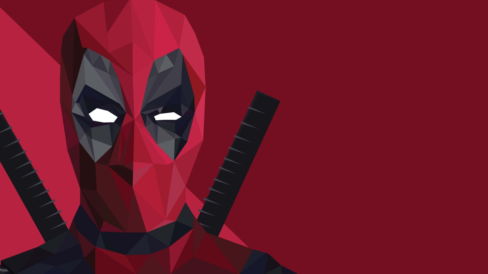 1920x1080 Cool Deadpool Wallpaper with Red Abstract Mask with White Eyes in ...