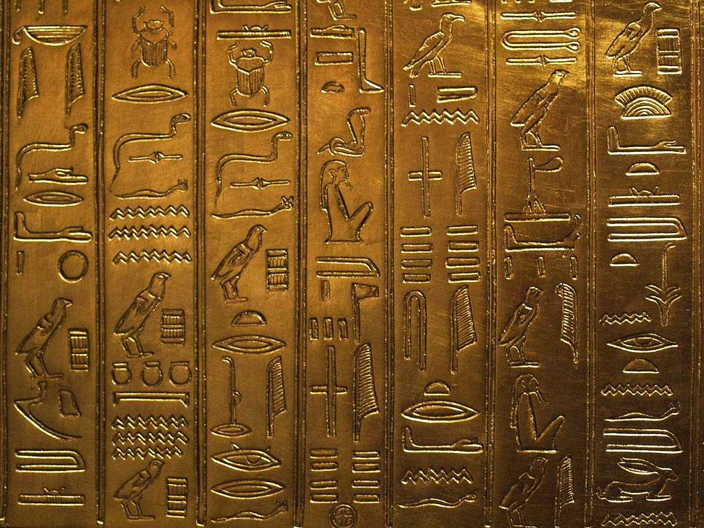 1024x768 Egyptian Hieroglyphics | Replica from the Tutankhamun Exhibi… | Flickr