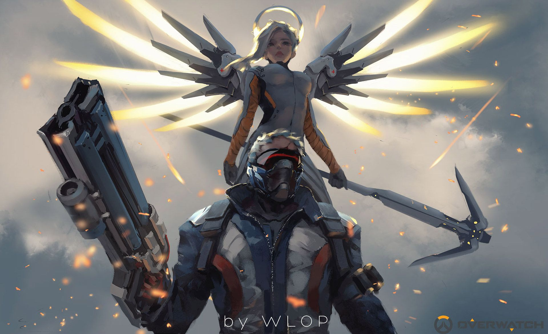 1920x1172 Mercy And Soldier 76 Overwatch Artwork, HD Games, 4k Wallpapers ...