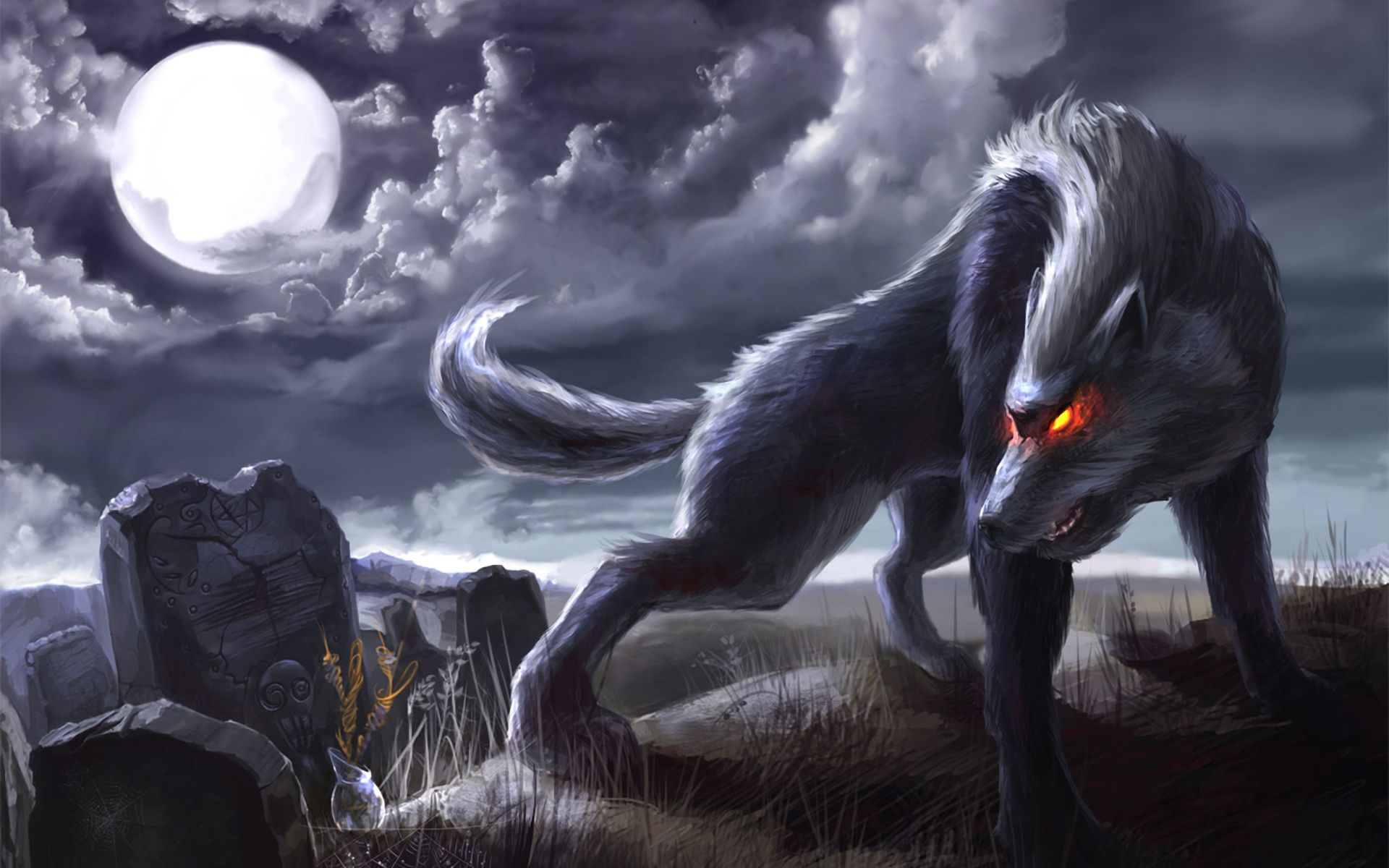 1920x1200 Cool Anime Wolf Wallpapers - WallpaperSafari | Anime Wolves | Wolf ...