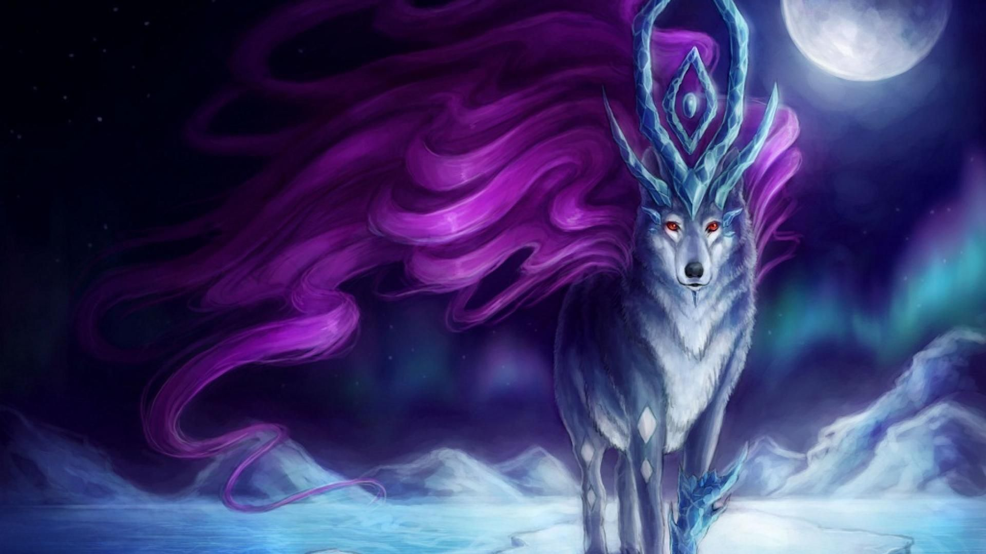 1920x1080 Anime wolf | Awesome! | Fantasy, Fantasy art, Anime wolf