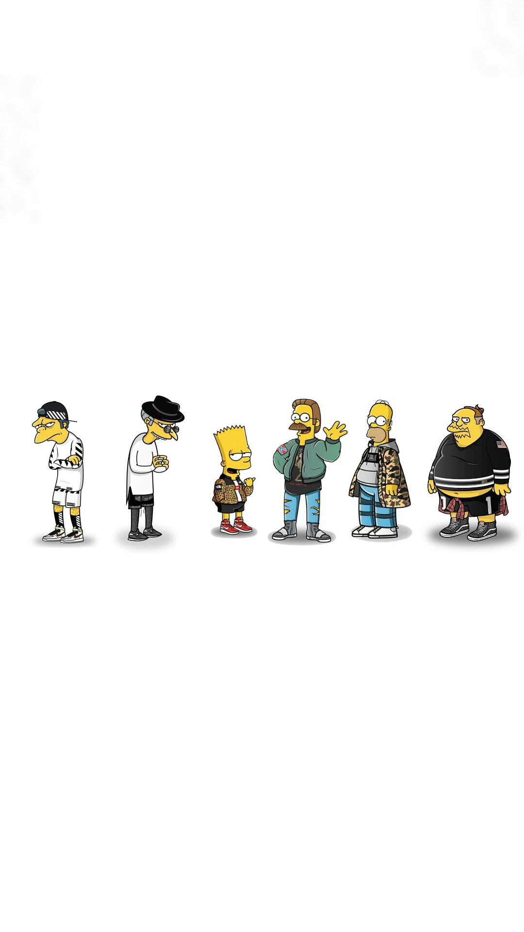 1080x1920 I made a wallpaper of all the Simpsons characters. : streetwear