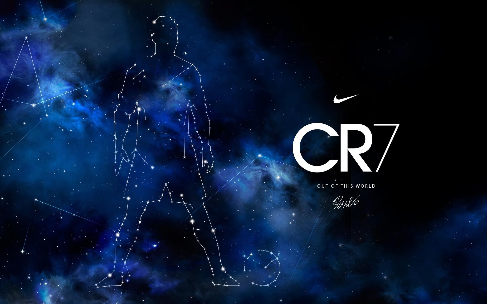 2048x1280 Cr7 Galaxy Background Free Download > SubWallpaper
