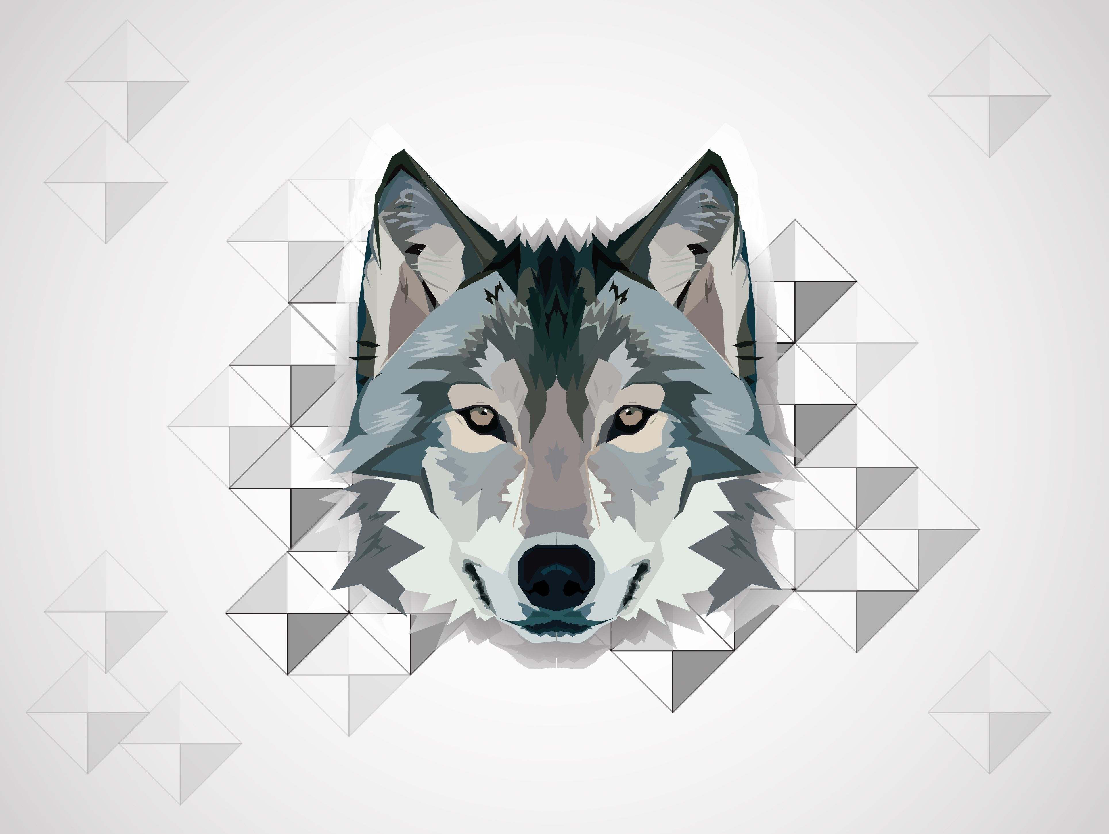 3857x2901 Free Wolf Vector, Download Free Clip Art, Free Clip Art on ...