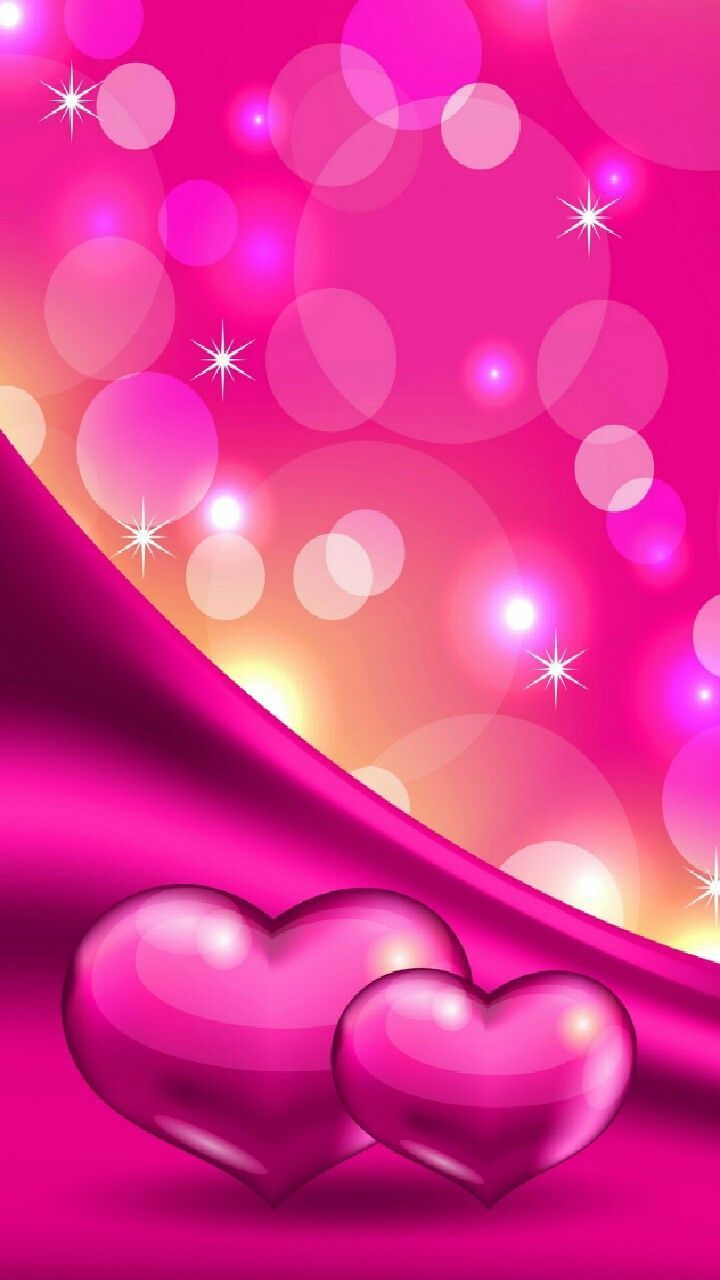 720x1280 Sparkle Pink Hearts and Bubbles Wallpaper | *Pink and Flowers ...