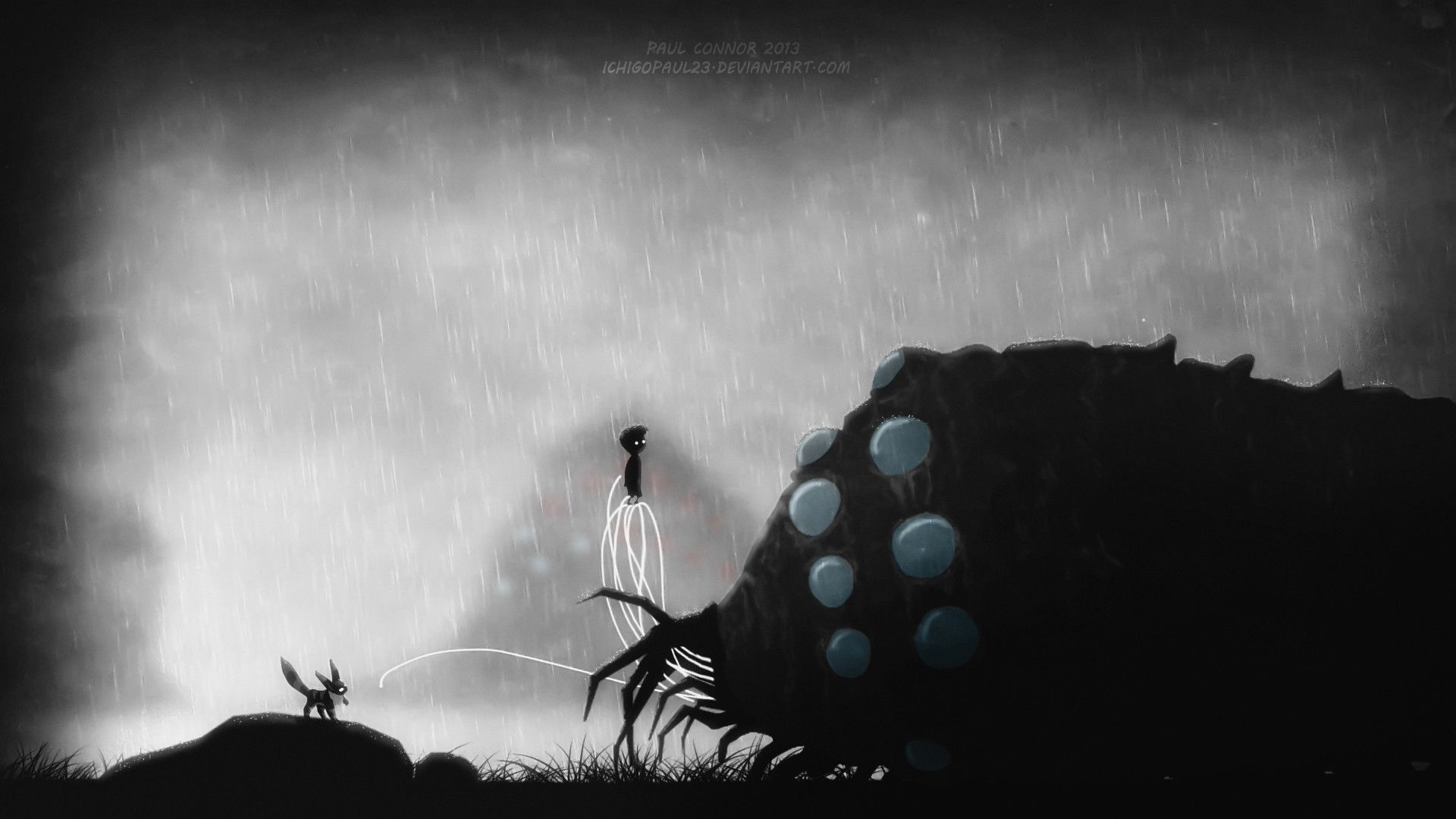1920x1080 Collection of Limbo Inspired Studio Ghibli wallpapers - Studio ...