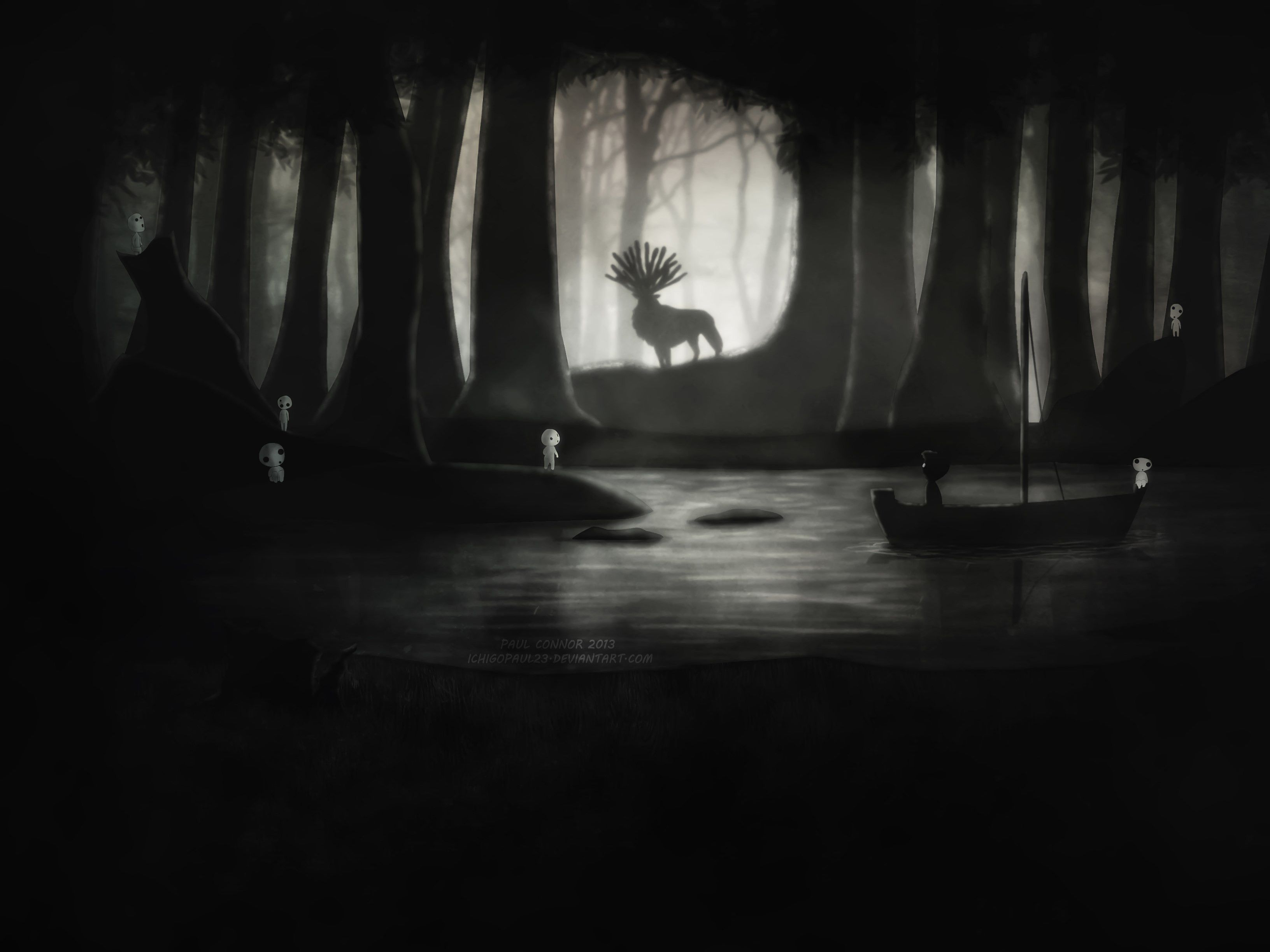 3264x2448 Collection of Limbo Inspired Studio Ghibli wallpapers - Studio ...