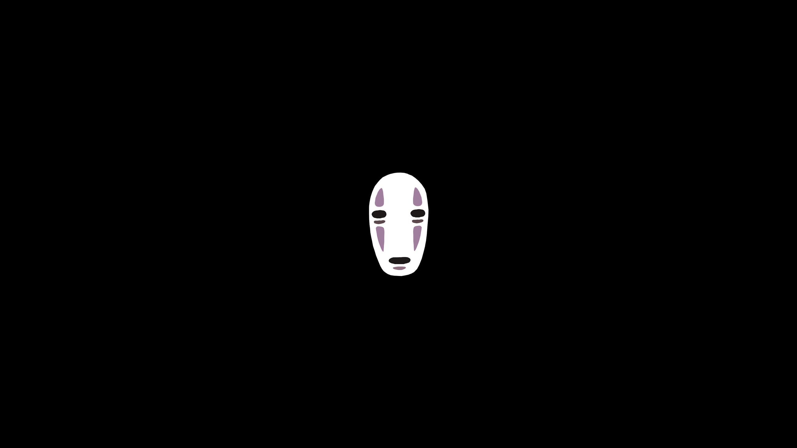 2560x1440 No Face from Studio Ghibli : Amoledbackgrounds
