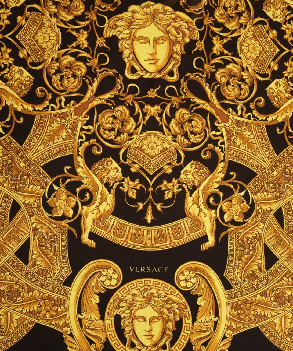 960x1153 Versace Yellow Black and Gold Silk Scarf | Cool necklaces ...