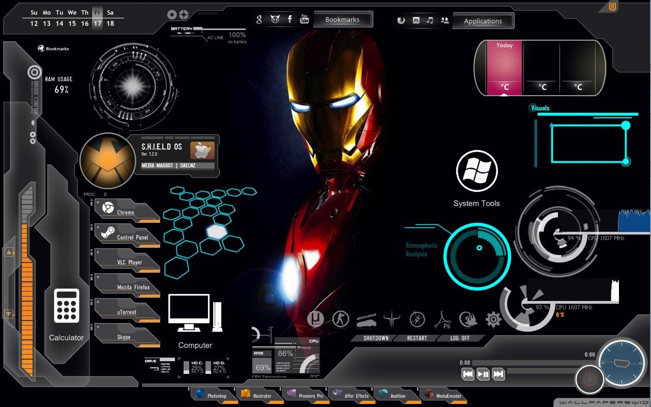1280x800 How To Get Iron Man Rainmeter Skin-Link in the Description - YouTube